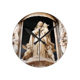 Virgin Mary Round Clock