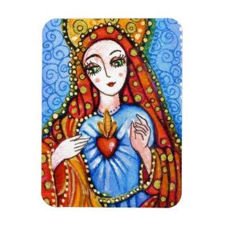 Virgin Mary - Sacred Heart Rectangular Photo Magnet