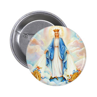 Virgin Mary Saints Buttons -  Gifts