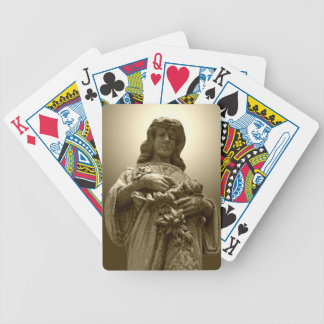 Virgin Mary Statue Bicycle Playing Cards