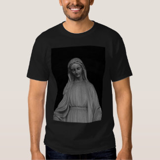 Virgin mary statue t shirts