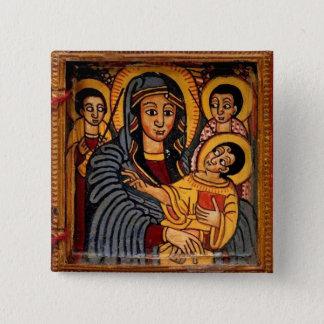 Virgin Mary the Theotokos Ethiopian Icon Button