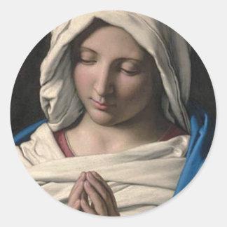 Virgin Mary / Virgen Maria Classic Round Sticker