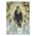 Virgin Mary with Baby Jesus and Angels Cards