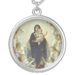 Virgin Mary with Baby Jesus and Angels Pendant