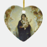Virgin Mary with Baby Jesus and Angels Christmas Ornaments