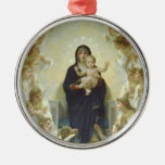 Virgin Mary with Baby Jesus and Angels Ornaments