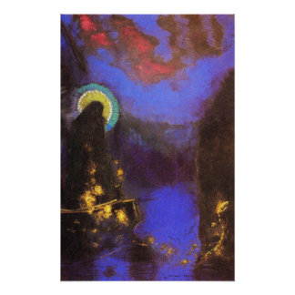 Virgin Mary with Corona Symbolist Painting - Redon Poster