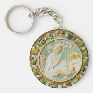 Virgin Mary with Jesus Keychain