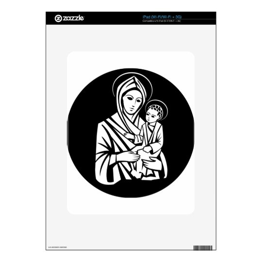 Virgin Mary With Jesus Skin For The iPad