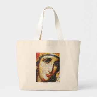 Virgin Mary with Saints Large Tote Bag