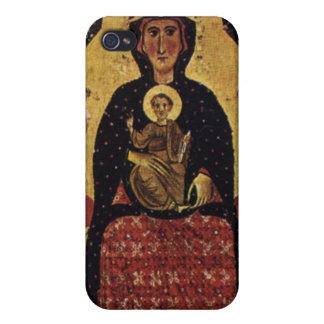 Virgin Mother and Child, Vintage Portrait iPhone 4 Cases