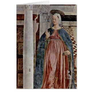 Virgin Of Annunciation. By Piero Della Francesca Card