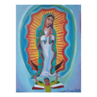 Virgin of Guadalupe 3 by Diego Manuel Poster