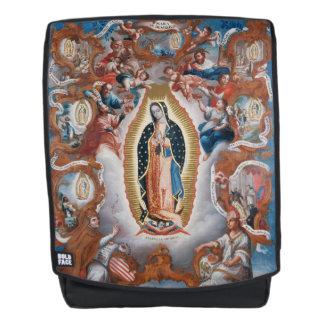 """Virgin of Guadalupe"" art backpack"