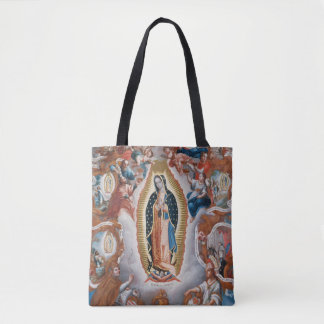 """Virgin of Guadalupe"" art bags"