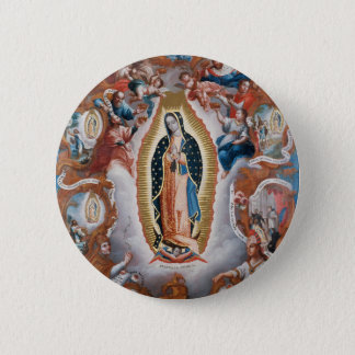 """""""Virgin of Guadalupe"""" art button"""