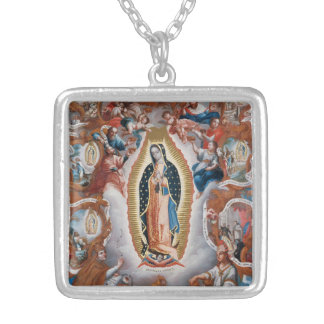 """""""Virgin of Guadalupe"""" art necklace"""