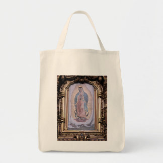 Virgin of Guadalupe Grocery Tote Bag