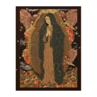 Virgin of Guadalupe by DeDe Shamel on Wood Wood Wall Decor
