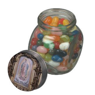 Virgin of Guadalupe Jelly Belly Candy Jar