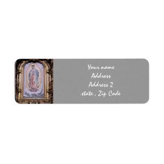 Virgin of Guadalupe Label