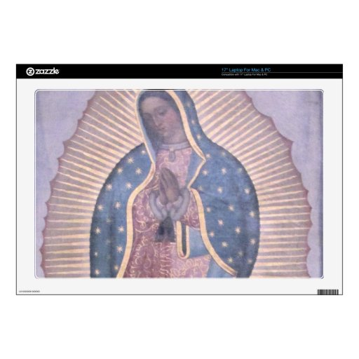 """Virgin of Guadalupe Decal For 17"""" Laptop"""