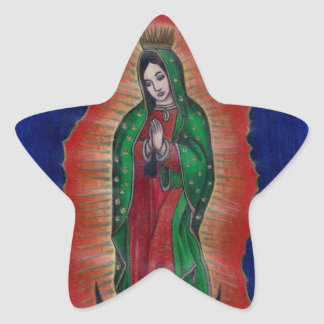 Virgin of Guadalupe Star Sticker