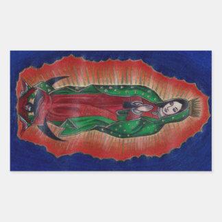 Virgin of Guadalupe Rectangular Sticker