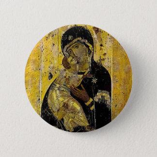 Virgin of Kyiv Ukrainian Icon Madonna Pinback Button