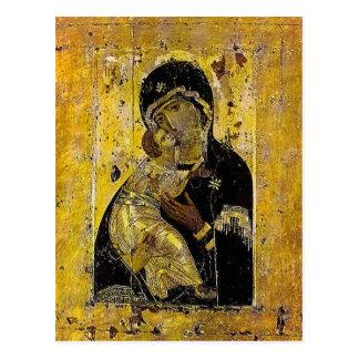Virgin of Kyiv Ukrainian Icon Madonna Postcard