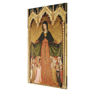 Virgin of Misericordia, detail of central Canvas Print