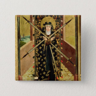 Virgin of Seven Sorrows from the Dome Altar, 1499 Pinback Button