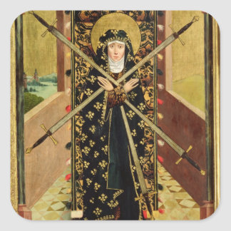 Virgin of Seven Sorrows from the Dome Altar, 1499 Square Sticker