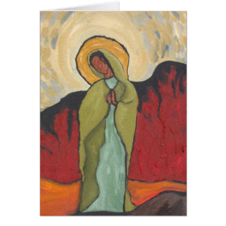 Virgin of the Desert Greeting Card