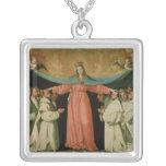 Virgin of the Misericordia Square Pendant Necklace