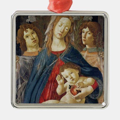 Virgin of the Pomegranate Christmas Tree Ornaments
