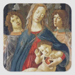 Virgin of the Pomegranate Square Stickers