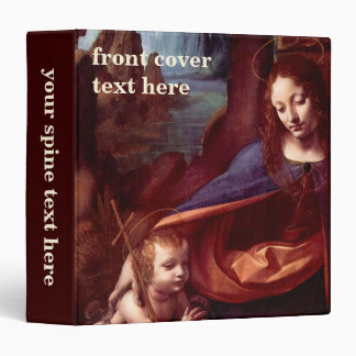 Virgin of the Rocks by Leonardo da Vinci 3 Ring Binder