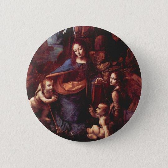 Virgin of the Rocks by Leonardo da Vinci Button