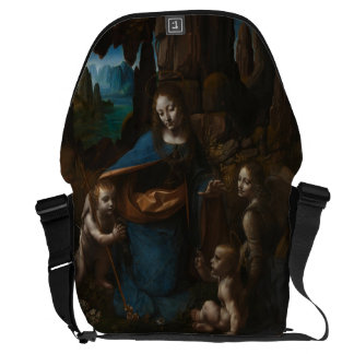 Virgin of the Rocks by Leonardo da Vinci Courier Bag