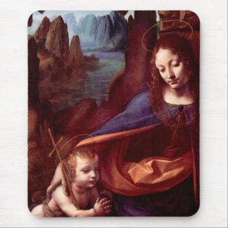 Virgin of the Rocks by Leonardo da Vinci Mouse Pad