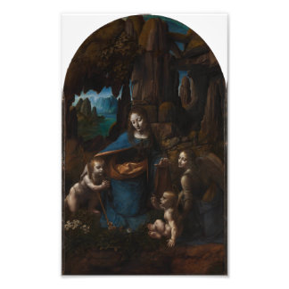 Virgin of the Rocks by Leonardo da Vinci Photo Print