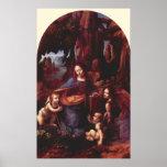 Virgin of the Rocks by Leonardo da Vinci Posters