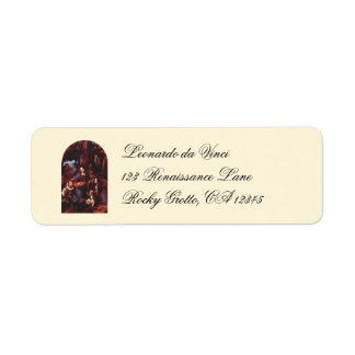 Virgin of the Rocks by Leonardo da Vinci Return Address Label