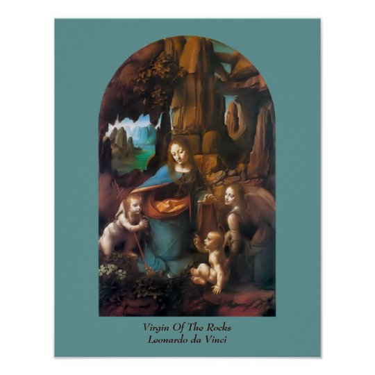 Virgin Of The Rocks da Vinci Vintage Art Poster