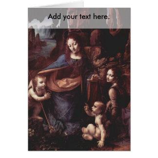 Virgin of the Rocks Greeting Card