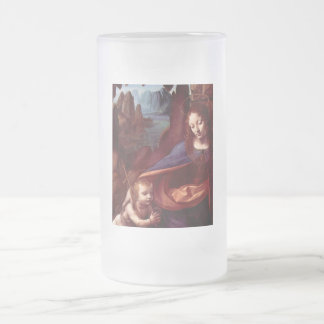 Virgin of the Rocks - London Version Frosted Glass Beer Mug