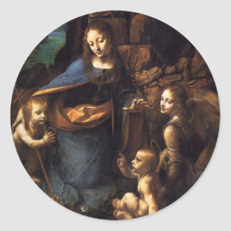 Virgin of the Rocks Round Stickers