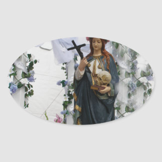 Virgin Of The Sea Oval Sticker